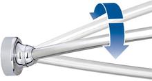 HeFe platsökande duschdraperistång (montering med skruvar) - Krom