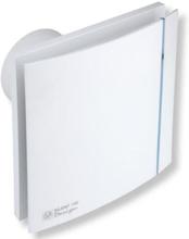 Thermex Silent 100 Design CHRZ ventilator med hygrostat & timer, Ø100 mm, hvit