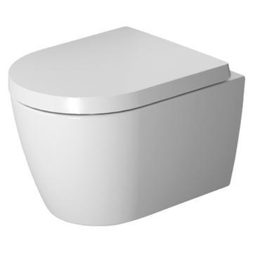 Duravit ME by Starck Rimless Compact Toalettskål - 360x480 mm m/WonderGliss, Vitt Porslin