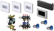 Uponor Smatrix Style PLUS Komplett trådlös golvvärmestyrning inkl. pump & betjäningspanel - 3 kretsar
