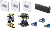 Uponor Smatrix Style PLUS komplett trådlös golvvärmestyrning inkl. pump - 4 kretsar