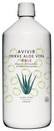 AVIVIR Aloe Vera Drikke 95 % m. æble, 1000ml.