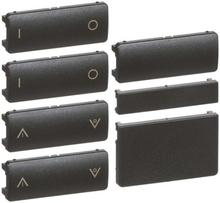 LK IHC Wireless Fuga Tangentsæt til batteritryk, 4 slutte, 1 modul, Koksgrå