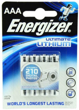 Energizer Ultimate AAA Lithium Batterier - 4 stk.