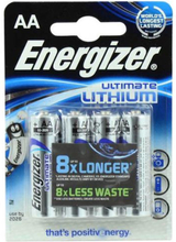 Energizer Ultimate AA Lithium Batterier - 4 stk.