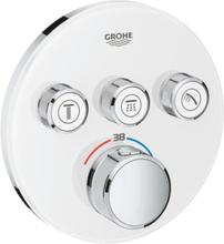 Grohe Grohtherm SmartControl indbygningsbatteri, 3 udtag, hvid