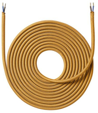 Nielsen Stofledning 2x0,75 mm², 4 meter, Guld