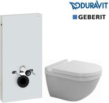 Komplet Geberit Monolith cisterne pakke m/Duravit hængeskål og Soft Close sæde