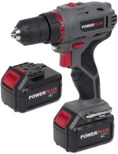 Powerplus E-line Bore-/Skruemaskine m/Lader 2 x 18V/1,3Ah