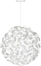 Umage Lora XL Pendel med hvid ledning, Hvid