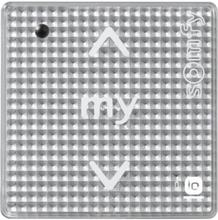 SOMFY Smoove 1 io Silver Trådlös väggmonterad styrenhet