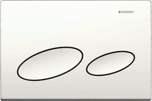 Geberit Kappa 20 betjeningsplade, hvid