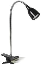 Kobra LED Klämspot 2,5W (25W), Svart