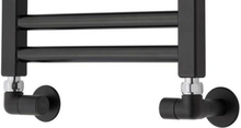 TVS ventilsæt, vinkelløbende, vendbar, sort