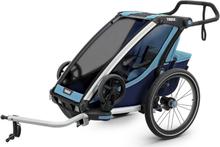 Thule Chariot Cross 1 Cykelvagn Blå, 12,8 kg, m/cykelkit
