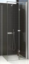 Dansani Match firkantet brusehjørne 80 x 80 cm med satin profil og klart glas - Model 11