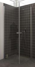 Dansani Match firkantet brusehjørne 70 x 80 cm med satin profil og klart glas - Model 1