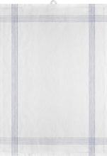 Signerat Handduk Blå smal rand 50x70 cm