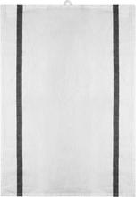 Signerat Handduk Svart bred rand 50x70 cm