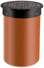 Karm m/skørt & dæksel til 315 mm opføringsrør, 1,5 ton, rund - plast
