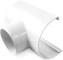 Plastmo tudstykke i hvid med Ø90 mm nedløb til tagrende nr. 12