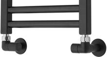 TVS ventilsæt hjørnevinkel vendbar i sort