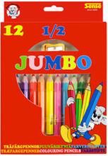 Träfärgpennor 1/2 Jumbo, 12-pack