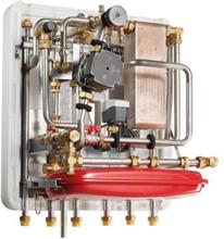 METRO System 5 fjernvarmeunit indirekte opvarmning tilslutning til 16 KW ekstern beholder.