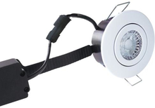 Nordtronic Low Profile Flexible 33 Rund Indbygningsspot 6W/827 LED, Mat hvid