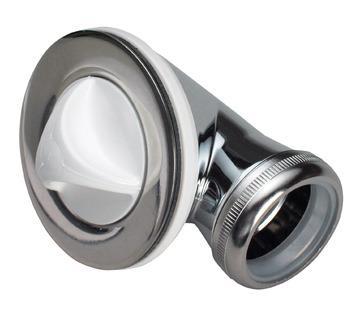 """Karfa bundventil t/badekar 1 1/4"""", rustfrit stål"""
