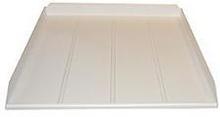 Afløbs/drypbakke 59,8 x 57 cm i hvid til opvaskemaskine