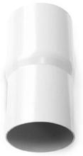 Plastmo rørsamlemuffe i hvid med Ø110 mm nedløb
