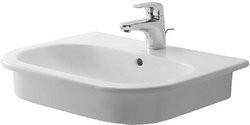 Duravit D-code håndvask 54,5 x 43,5 cm med hanehul og overløb