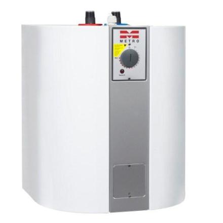 Metro model 30 Elvandvarmer Type 910 (varmtvandsbeholder) rør op