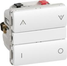 LK IHC Wireless Kombi lysdæmper, 250W, 1 modul, Hvid