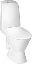 Gustavsberg Nautic 1591L toilet med åben S-lås, stor fod og åben skyllekant