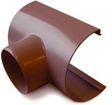 Plastmo tudstykke i brun med Ø75 mm nedløb til tagrende nr. 12