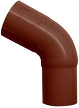 Plastmo 60° bøjning i brun med Ø90 mm nedløb