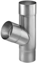 VMZINC 60° grenrør med Ø87 mm nedløb