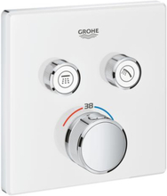 Grohe Grohtherm SmartControl brusebatteri, 2 udtag, hvid