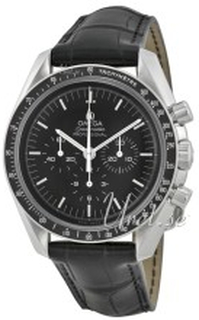 Omega 311.33.42.30.01.001 Speedmaster Moonwatch Professional 42mm Sort/Lær Ø4242