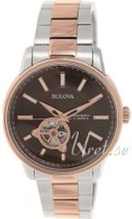 Bulova 98A140 Brun/Rose-gulltonet stål Ø45 mm