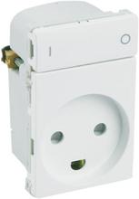 LK IHC Wireless Fuga Stikkontakt, 1½ modul, Hvid
