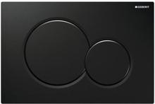 Geberit Sigma 01 betjeningsplade, sort