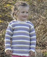 Stickmönster - Stickad barnjumper