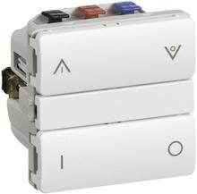 LK IHC Wireless Fuga Kombi relæ, 1 modul, Hvid