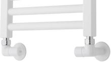 TVS ventilsæt, vinkelløbende, vendbar, hvid