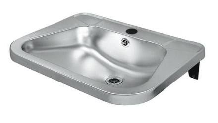 Intra RS72 Håndvask 56x42 cm Stål m/Hanehul og Overløb