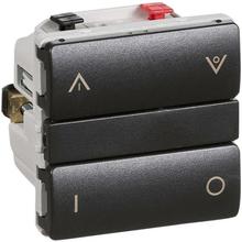 LK IHC Wireless Fuga Kombi lysdæmper, 250W, 1 modul, Koksgrå