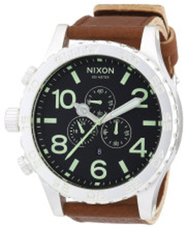 Nixon A1242037-00 The 51-30 Svart/Läder Ø50 mm
